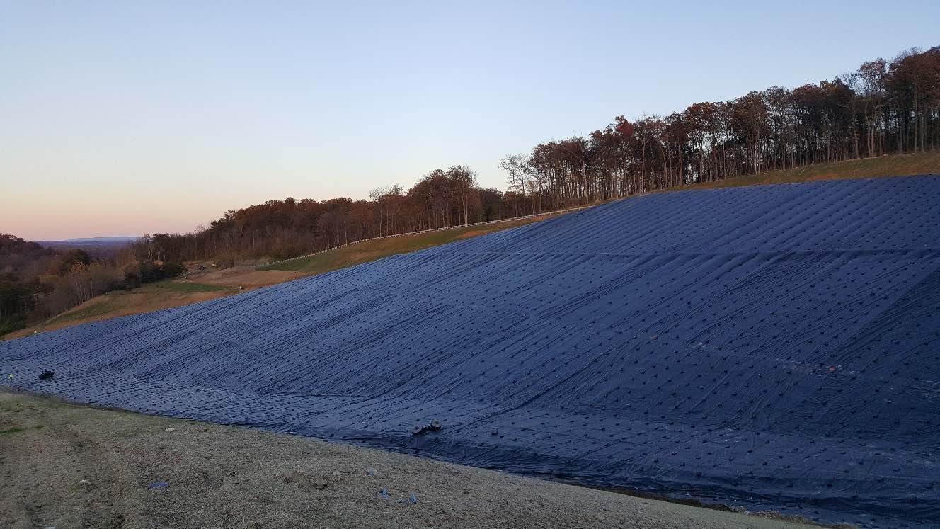 PFAS containment using HDPE geomembrane liner